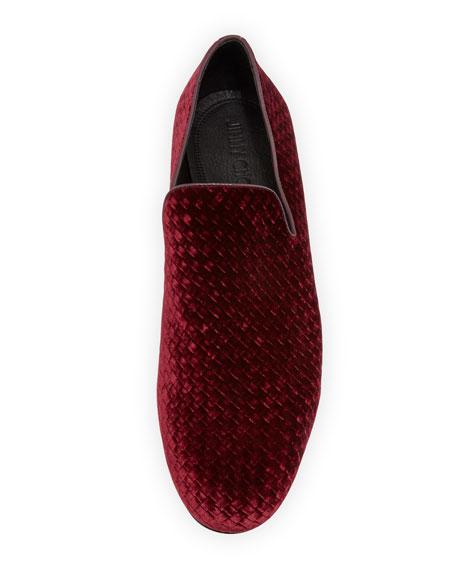 Men's Woven Velvet Slipper
