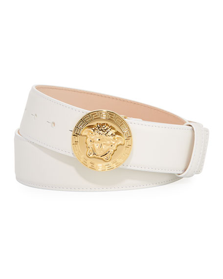 Medusa Greca Leather Belt