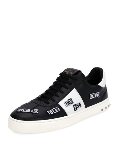 Punk Leather Low-Top Sneaker
