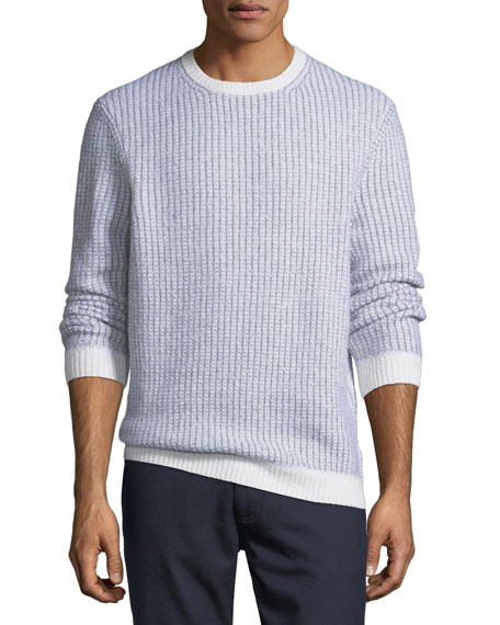 Cashmere-Blend Textured-Knit Sweater