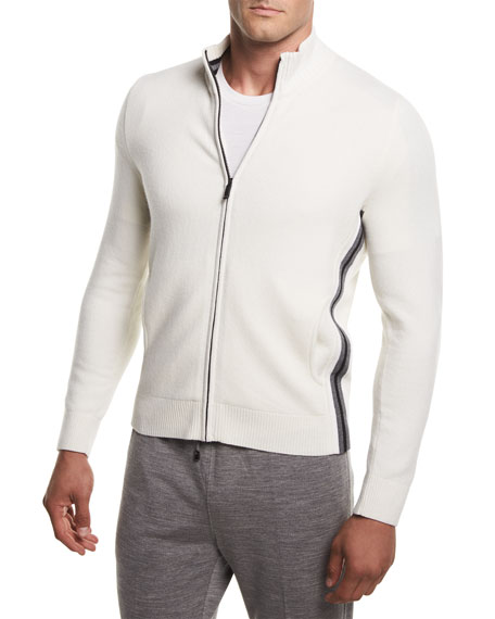 Z Zegna-Techmerino Super-Soft Techmerino Full-Zip Sweater