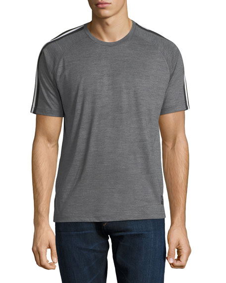 Techmerino Jersey Short-Sleeve T-Shirt, Medium Gray