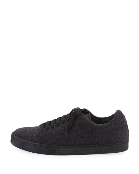 Noble Wool Lace-Up Platform Sneaker
