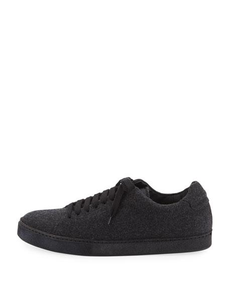 Noble Wool Lace-Up Platform Sneaker
