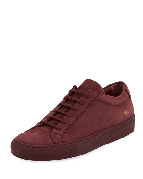 Men's Original Achilles Nubuck Low-Top Sneaker, Wine