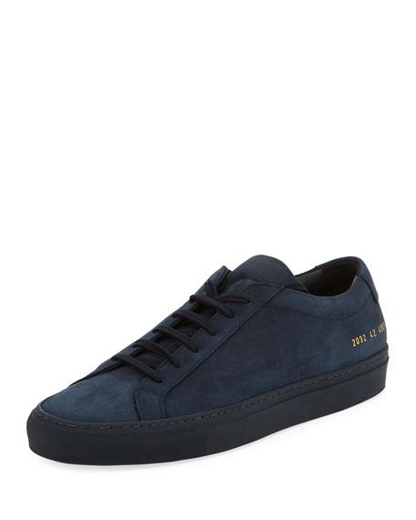 Men's Original Achilles Nubuck Low-Top Sneaker, Navy