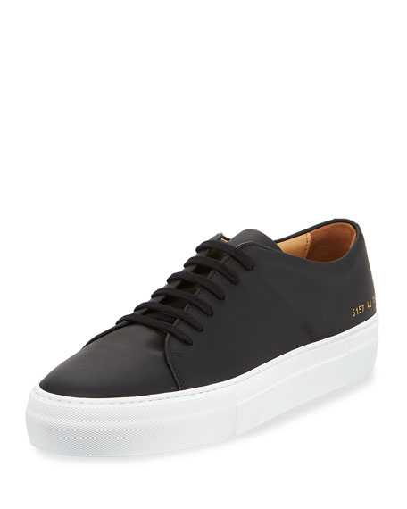 Common Projects Men's Court Leather Low-Top Sneaker