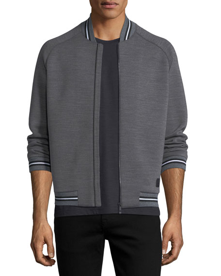Techmerino Striped Bomber Jacket