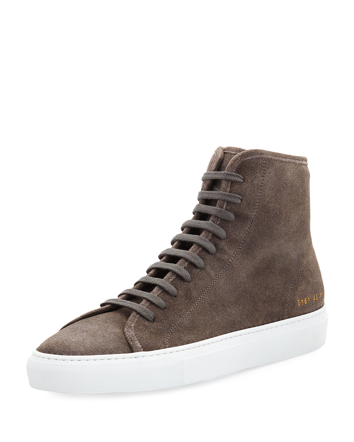 e71d3bd1fbe4 Common Projects Men s Tournament Suede High-Top Sneaker