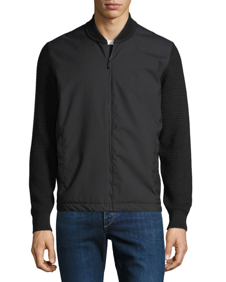 Techmerino Zip-Front Sweatshirt