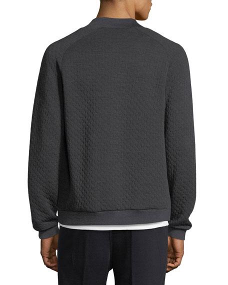 Techmerino Matelasse Zip Sweatshirt