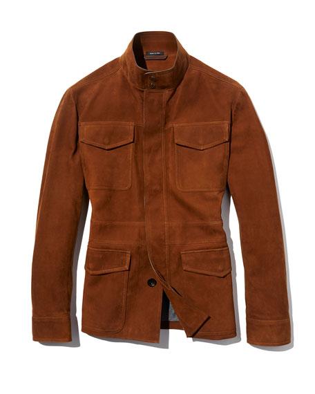 Four-Pocket Suede Safari Jacket