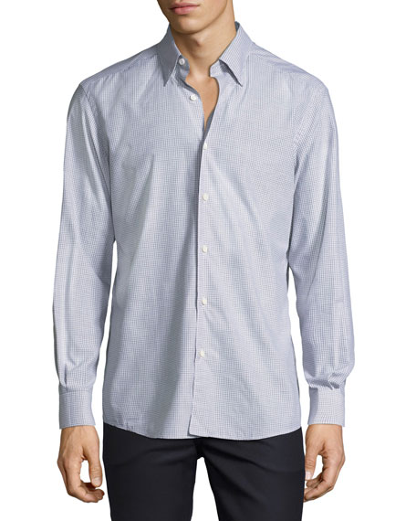 Gingham Check Cotton Shirt