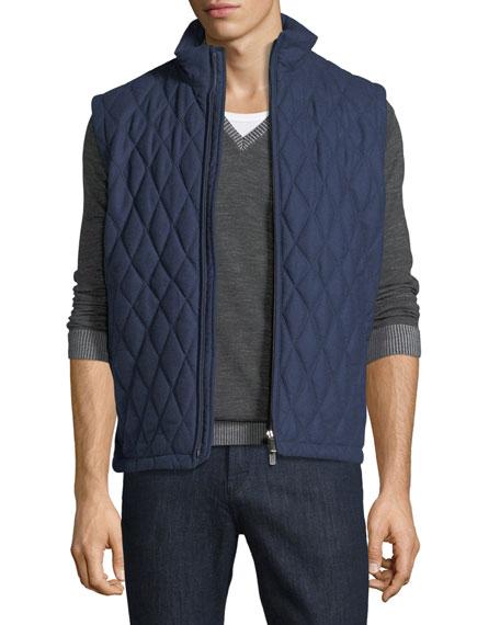 Ermenegildo Zegna Quilted Wool-Silk-Cashmere Vest