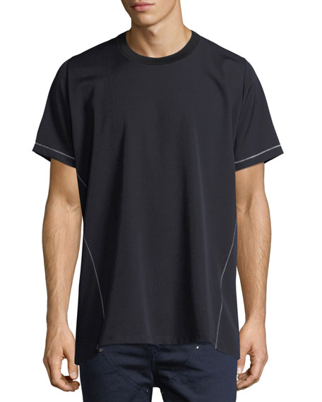 Contrast-Stitched Oversized T-Shirt