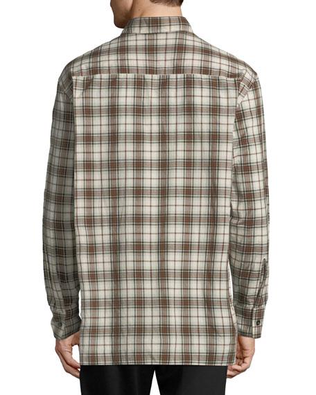 Patchwork Plaid Sport Shirt