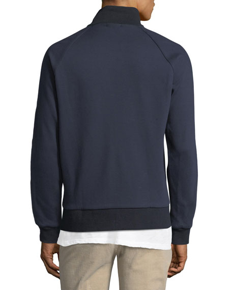 Double-Knit Zip-Front Sweatshirt