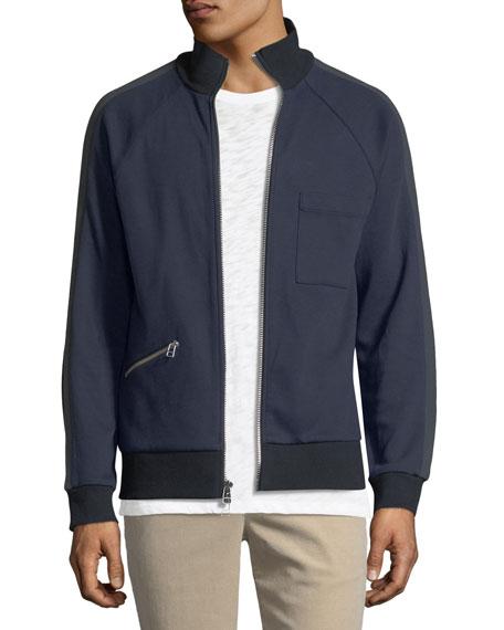 ATM Anthony Thomas Melillo Double-Knit Zip-Front Sweatshirt