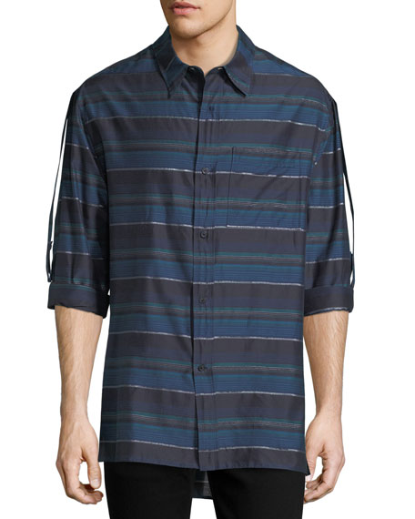 Lanvin Striped Long-Sleeve Shirt