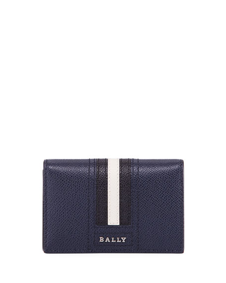 Bally Tyke Leather Business Card Holder