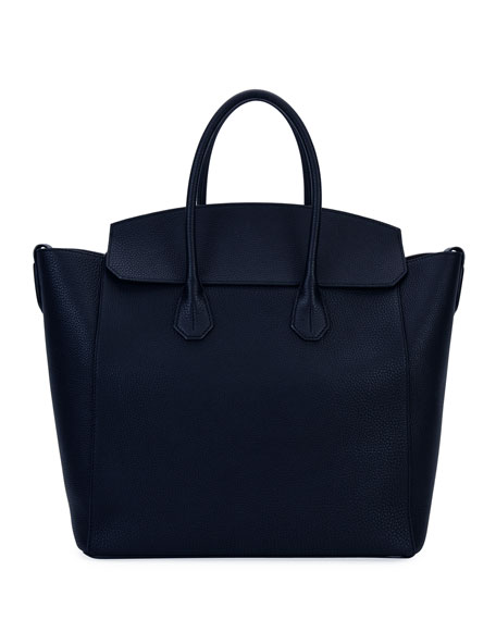 Sommet Men's Grained Leather Tote Bag