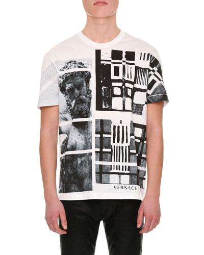 Greek Graphic-Print Cotton T-Shirt