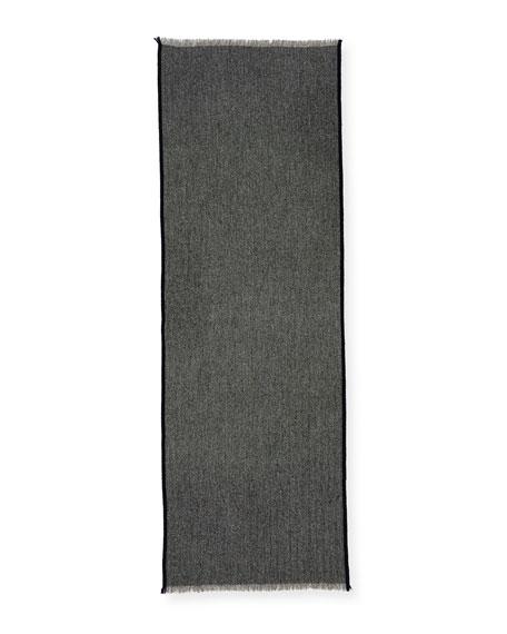 Lightweight Cashmere Herringbone Scarf