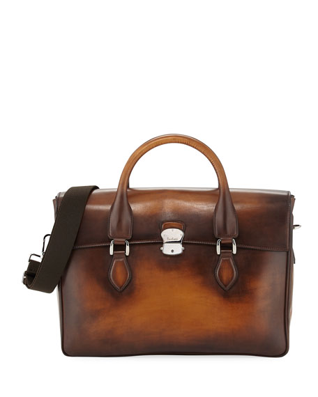 Berluti III Gloria Leather Briefcase