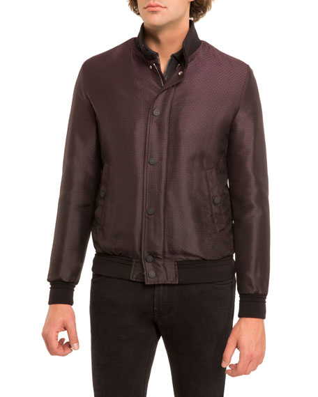 Degrade Silk Blouson Jacket
