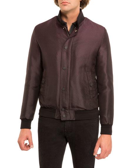 Dégradé Silk Blouson Jacket