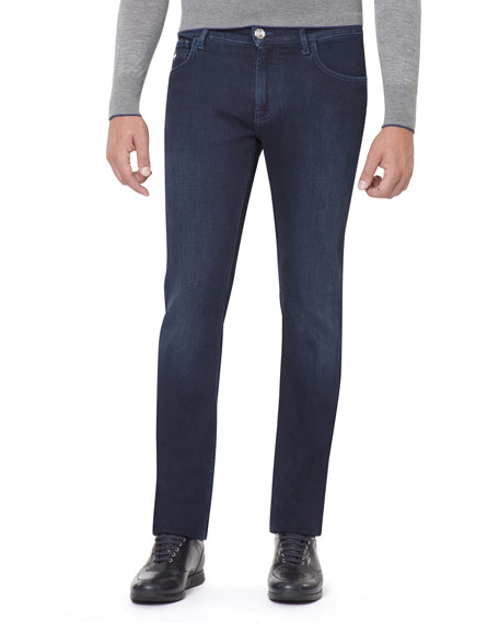 Stretch-Denim Slim-Straight Jeans