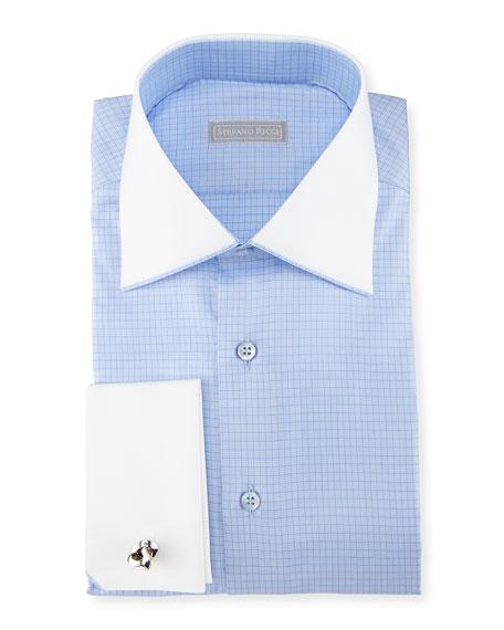 Check French-Cuff Dress Shirt