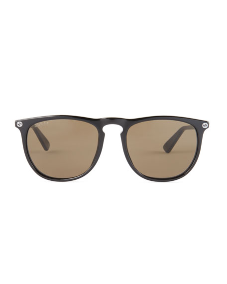 Acetate Pantos Sunglasses, Black