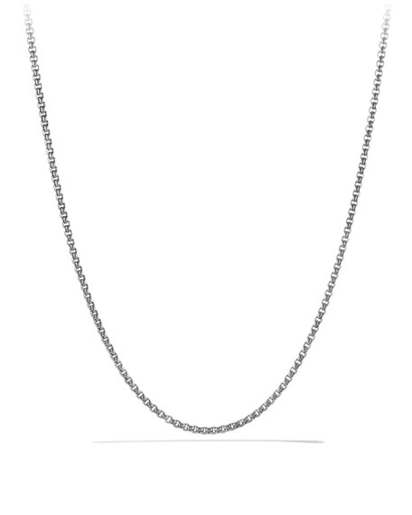 "Small 24""L Titanium & Sterling Silver Box Chain"