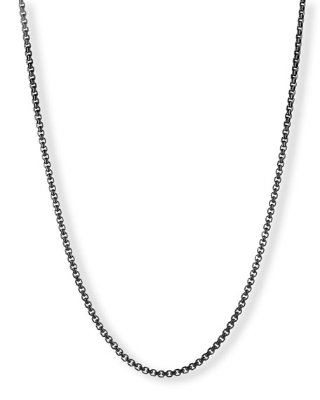 David Yurman Darkened Stainless Steel Box Chain