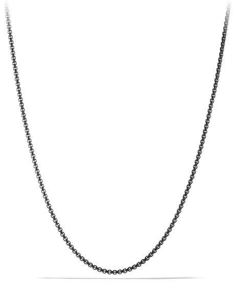 David Yurman Small Darkened Stainless Steel Box Chain
