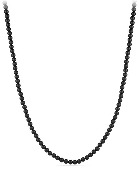 David Yurman Spiritual Bead Necklace with Black Onyx