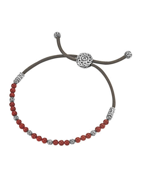 John Hardy Coral Bead Bracelet