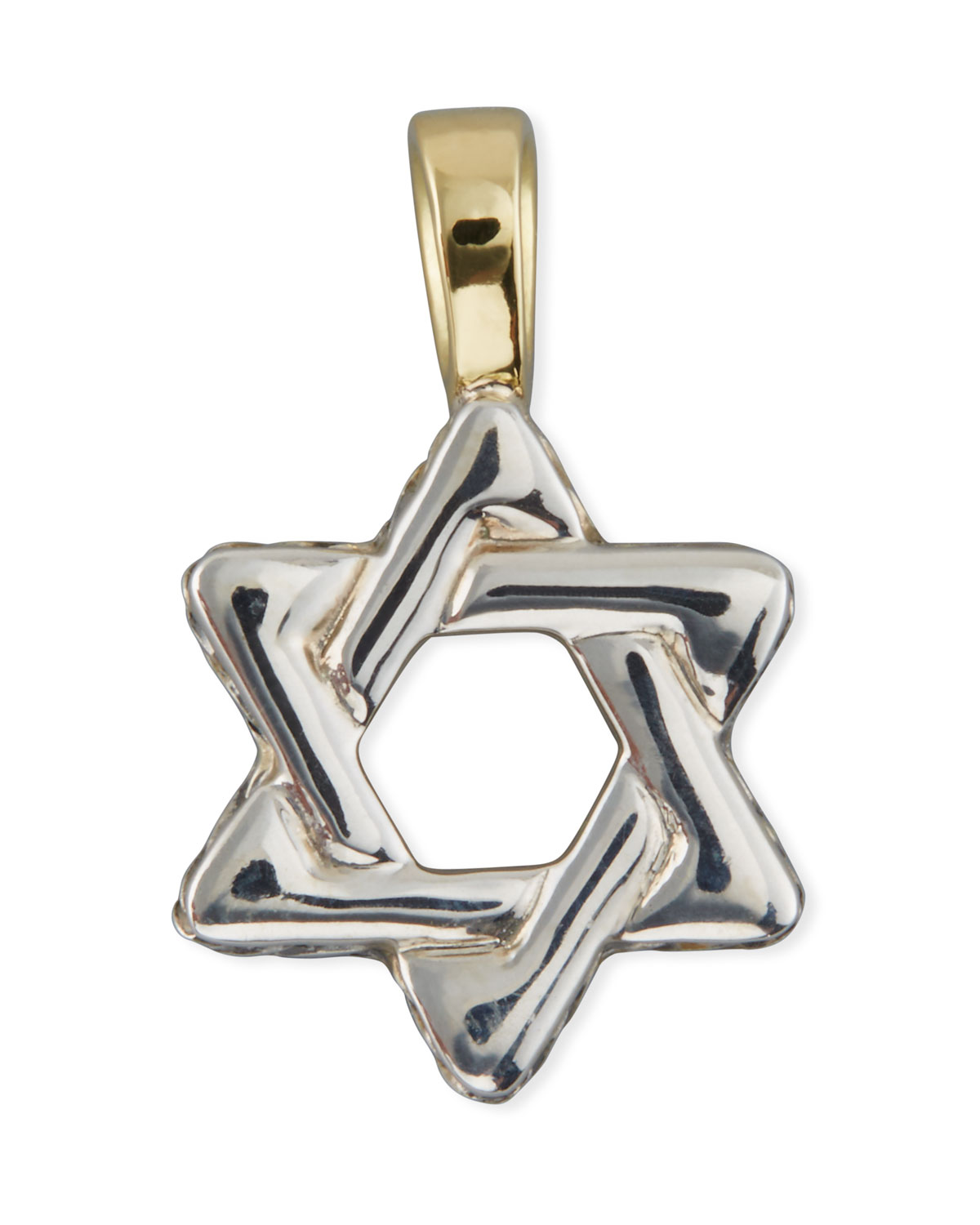 37ca88320b90 David Yurman Men's Sterling Silver & 18K Gold Cable Star of David Enhancer