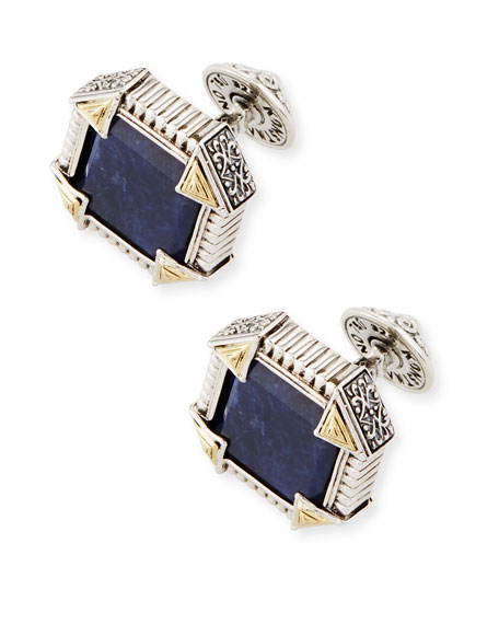 Konstantino Silver & 18K Gold Cuff Links with