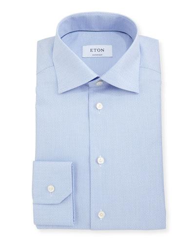 Contemporary-Fit Diamond-Texture Dress Shirt