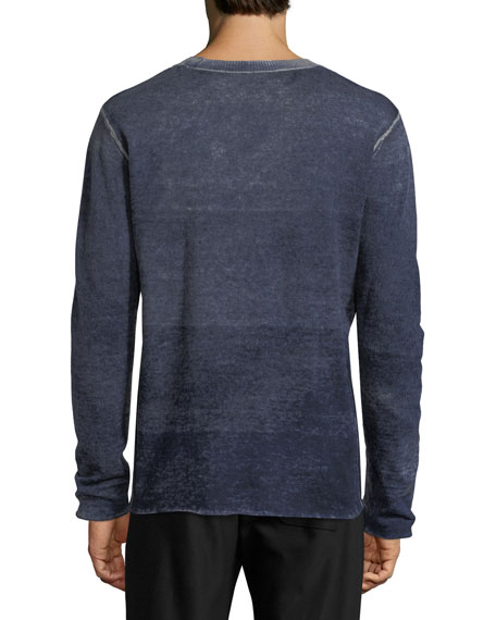 Faded Wool-Cashmere Crewneck Sweater