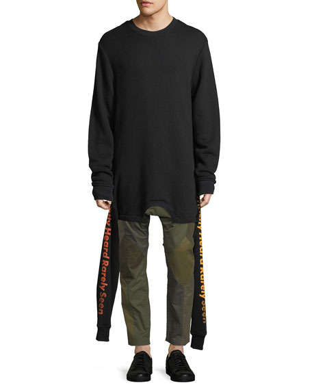 Upside-Down Cotton Sweatshirt
