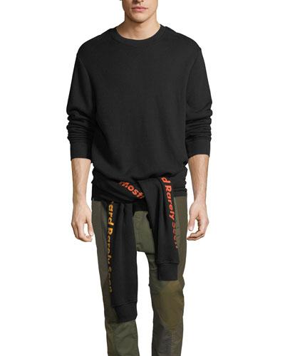 Upside-Down Cotton Sweatshirt