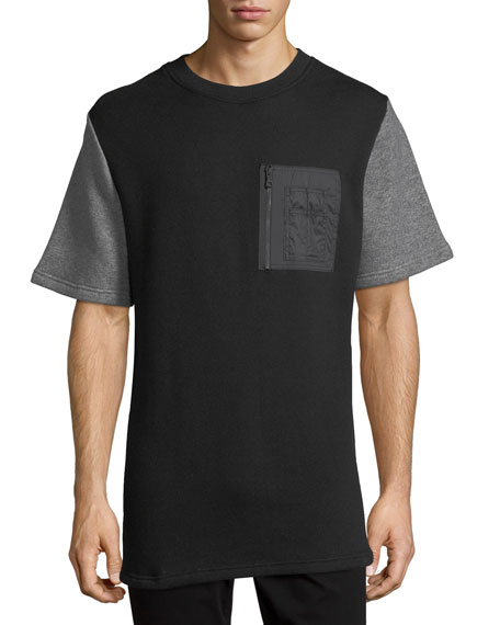 Mostly Heard Rarely Seen Mixed-Media Quilted-Back T-Shirt