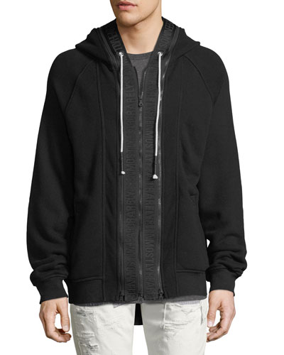 Cotton Hoodie with Logo Taping