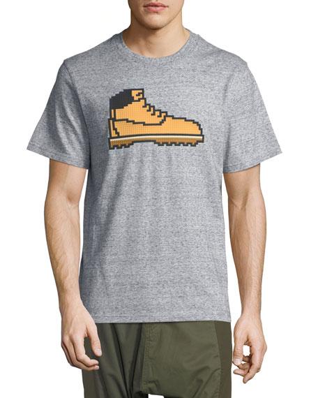 Mostly Heard Rarely Seen 8-Bit Hiking Boot T-Shirt
