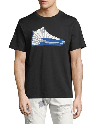 8-Bit High-Top Sneaker T-Shirt