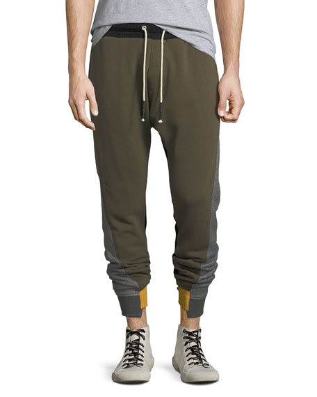 Mostly Heard Rarely Seen Mixed-Media Jogger Pants