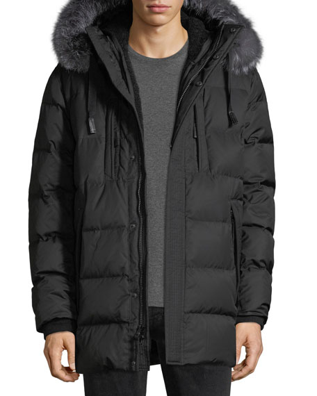 Andrew Marc Alaska Fur-Trim Waterproof Parka